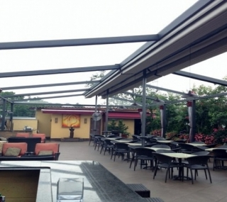 Gennius Retractable Pergola Awning For Restaurant Penthouse Dining Pergola Nyc