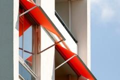 Orange awnings
